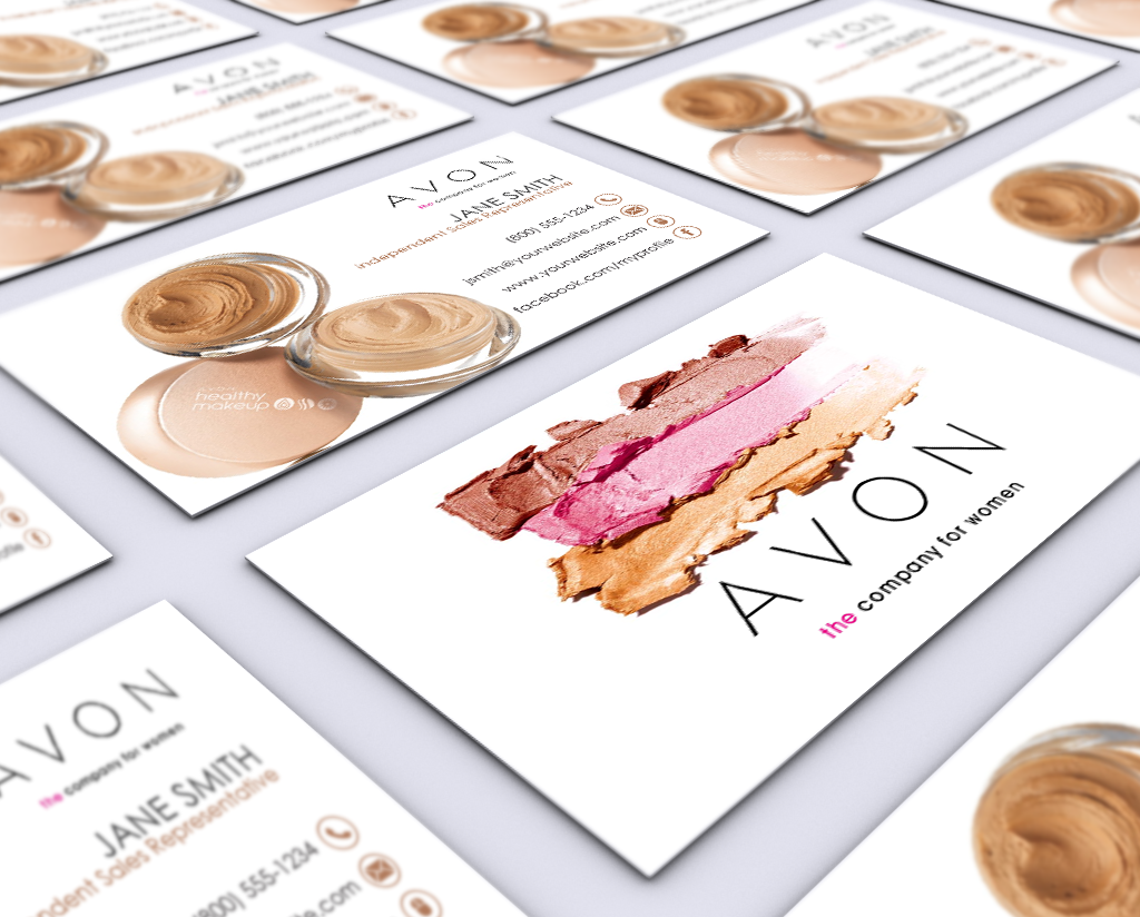 Avon business cards pinterest business cards business and card cute business card for avon cosemetics avon makeup businesscards cosmetics avoncosmetics reheart Choice Image