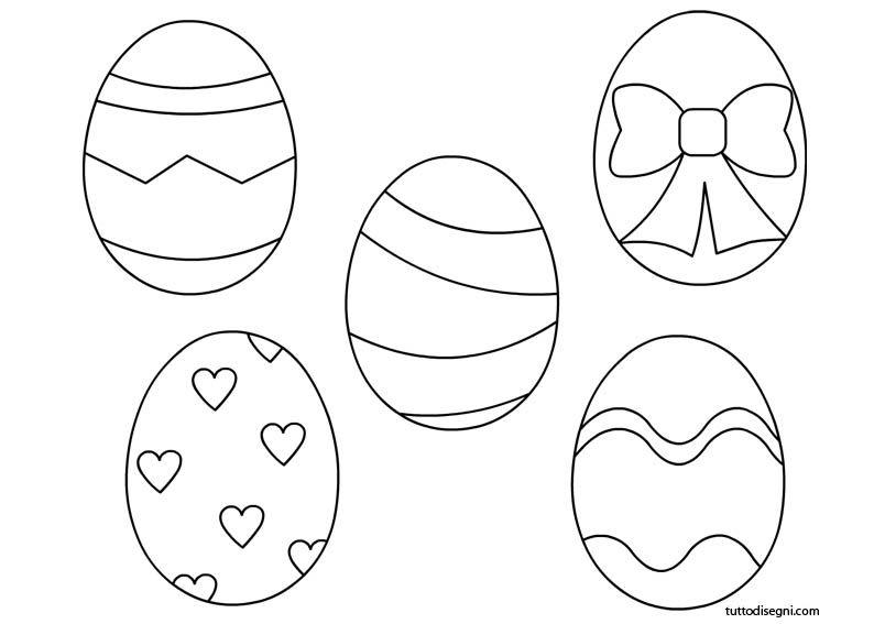 Uova pasquali da colorare pasqua - Uovo modello da stampare ...