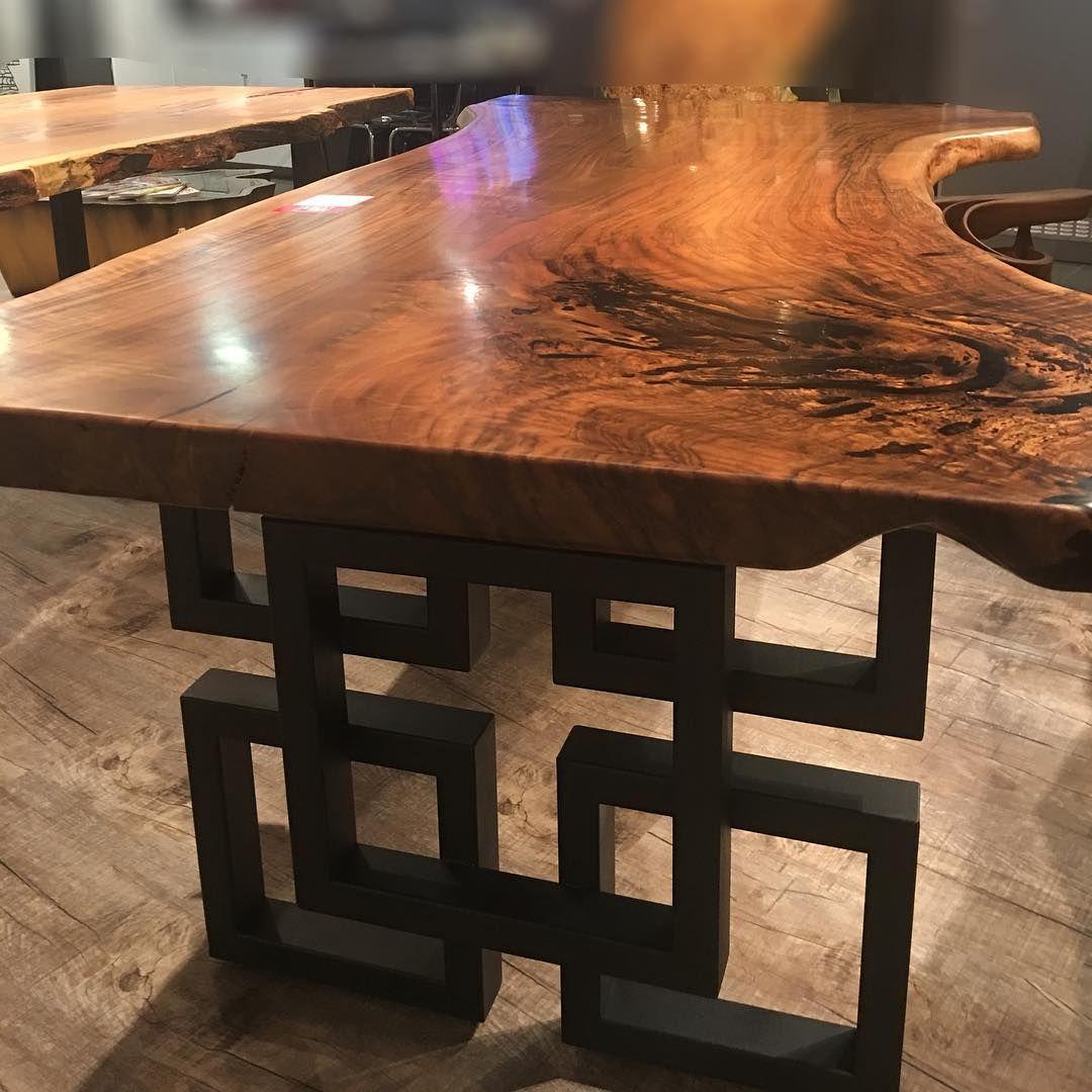 Caldesign Gmbh On Instagram Massivholztisch Walnuss Tischplatte Nbt 220 Materialien Massivholz Waln Dining Table Rustic Dining Table Rustic Dining