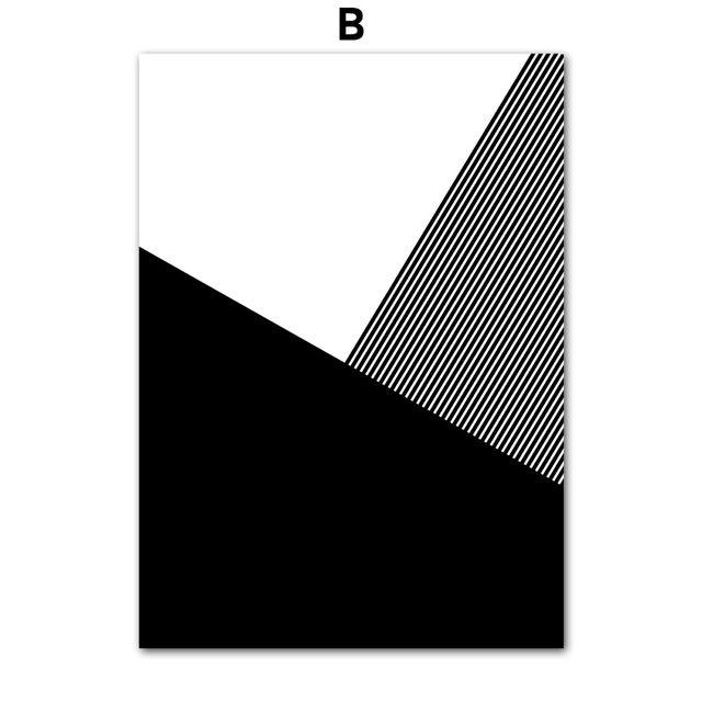COLORFULBOY Strisce Geometriche Grafica Nordic Poster Nero White Wall Art  Stampa Su Tela Pittura Immagini A Parete Per Soggiorno In COLORFULBOY Stru2026  ...