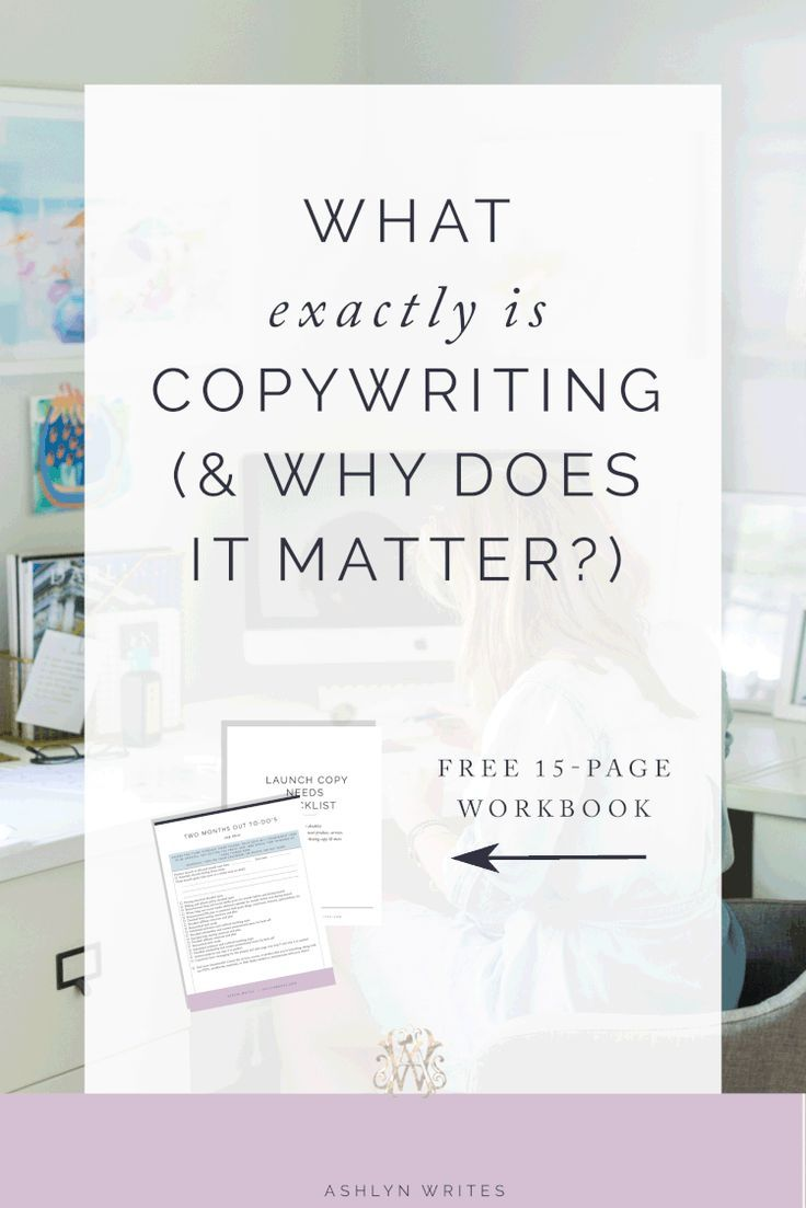 Need copywriting tips and to learn how writing copy can