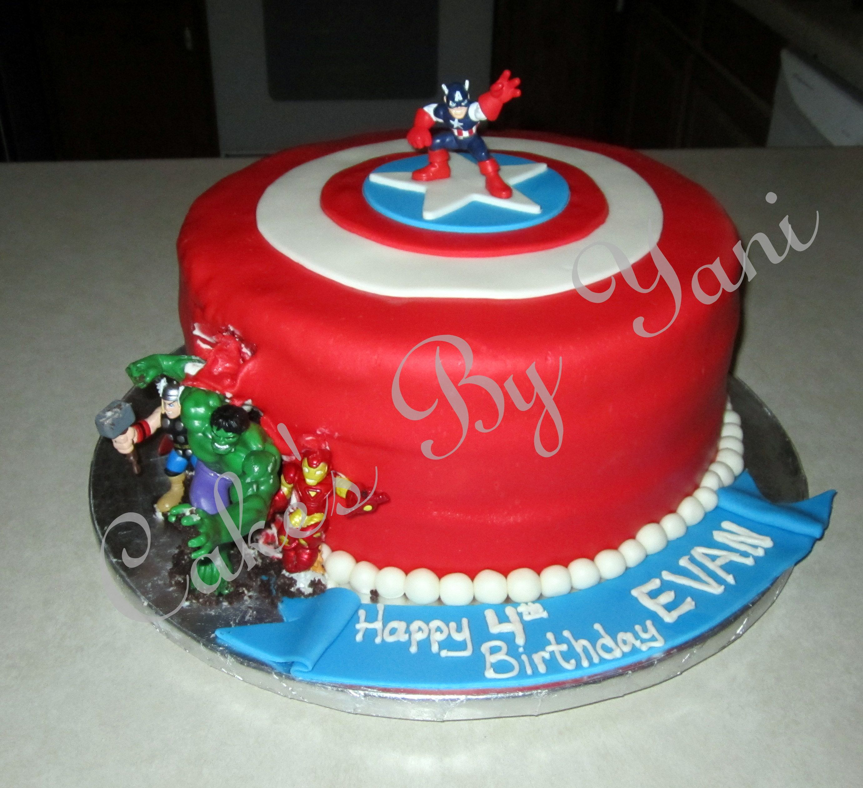 Avengers Captain America Cake Cakes by Yani Pinterest Captain