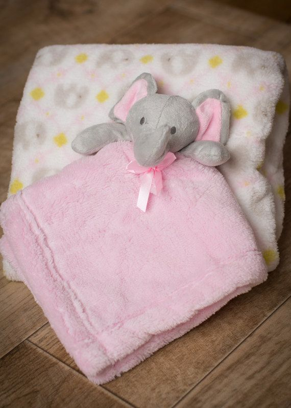 Baby gift set perfect for baby shower pink elephant baby baby gift set perfect for baby shower pink elephant baby comforter super soft with negle Images