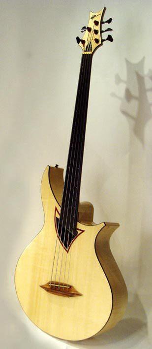 Hp luthier classique 5 string frettless bass bass guitars pinte - Apprendre la guitare seul mi guitar ...