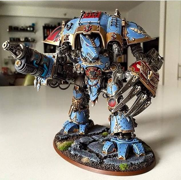 Custom Wolf Knight. Love the claw a hellfrost destructor conversions.