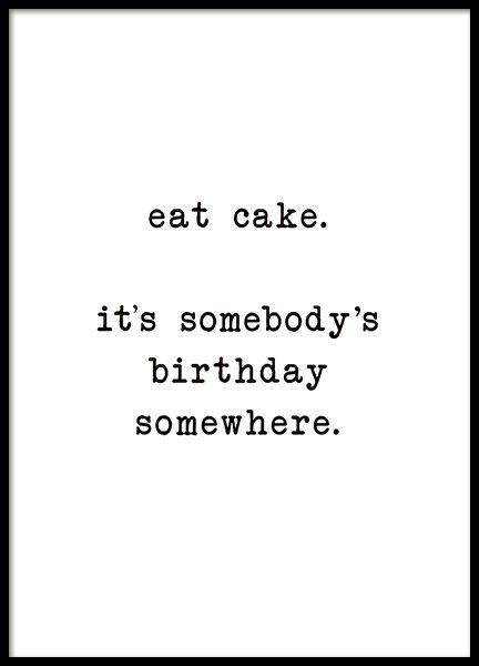Eat Cake Poster