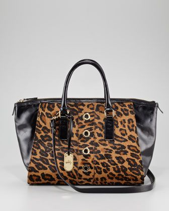 Harper Calf Hair Tote Bag by Milly at Neiman Marcus.