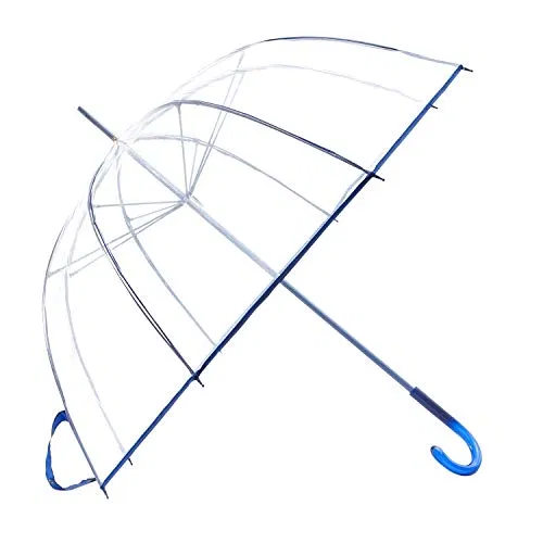 Best HAOCOO Clear Umbrella,Bubble Transparent Fashion Dome 8 Stick Umbrella Offer - LightBagTravel.com