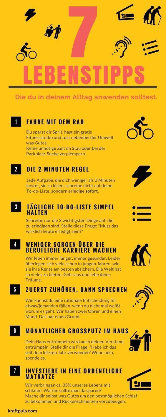 7 Lebenstipps: Die Infografik für ein besseres Leben