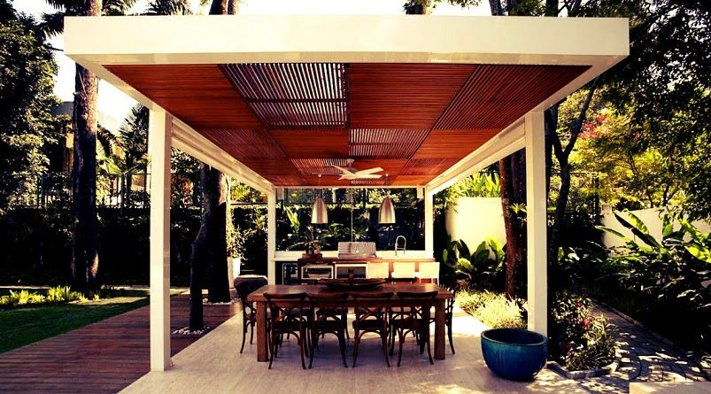 Terraza barbacoa casa morumbi arquitectura brasil planos - Barbacoa minimalista ...