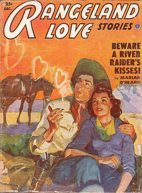 Sorry, darling, but I think he's just blowing smoke! :D #vintage #cowgirl #Western #couple