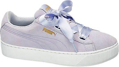 Fioletowe Buty Damskie Puma Vikky Platform Ribbon 1728503 Deichmann Com Zapatos Tenis