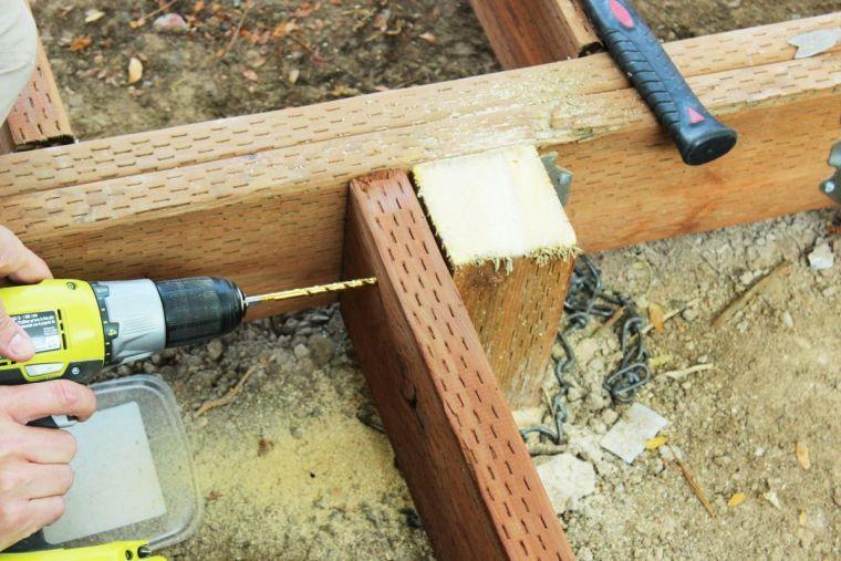 Faire une terrasse en bois - tuto détaillé pour fabriquer lu0027ossature