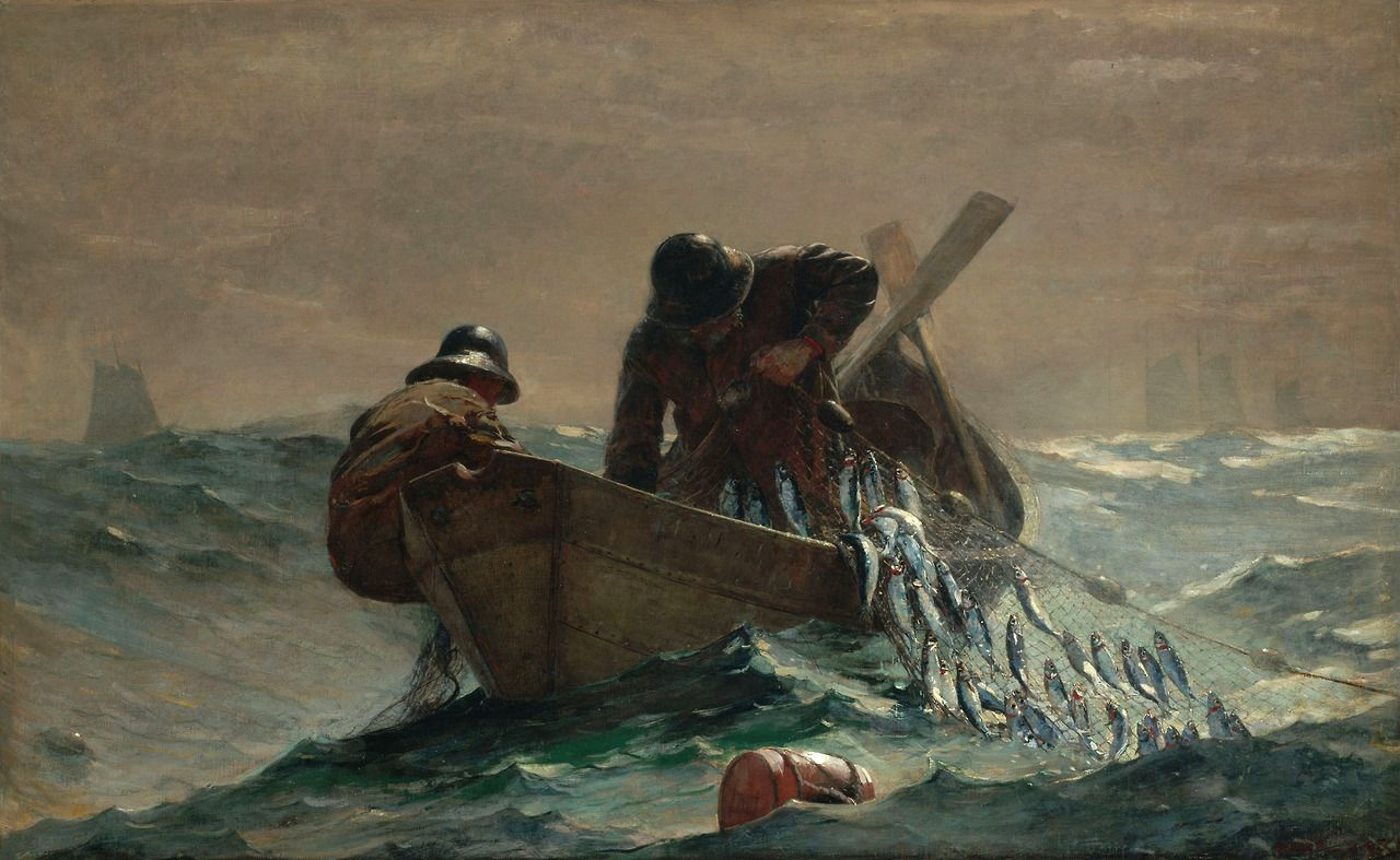 The Herring Net via Winslow Homer