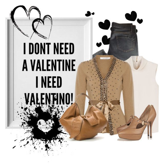 """""""For all the single ladies"""" by nellegrau ❤ liked on Polyvore featuring Valentino, RED Valentino, women's clothing, women, female, woman, misses and juniors"""