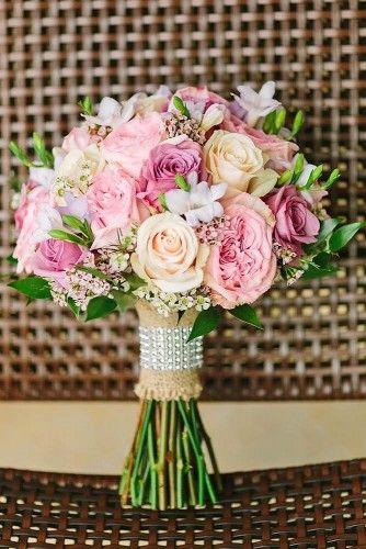 18 preciosos ramos de novia de color rosa - te encantarán
