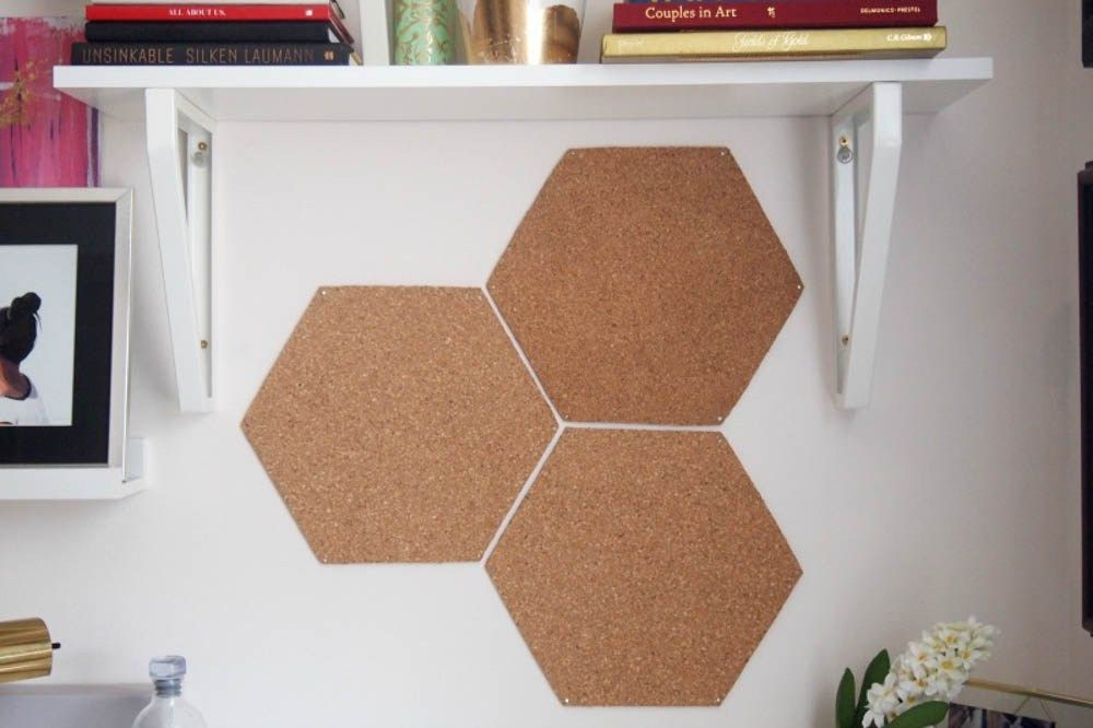 Make Hexagon Cork Boards Out Of Dollar