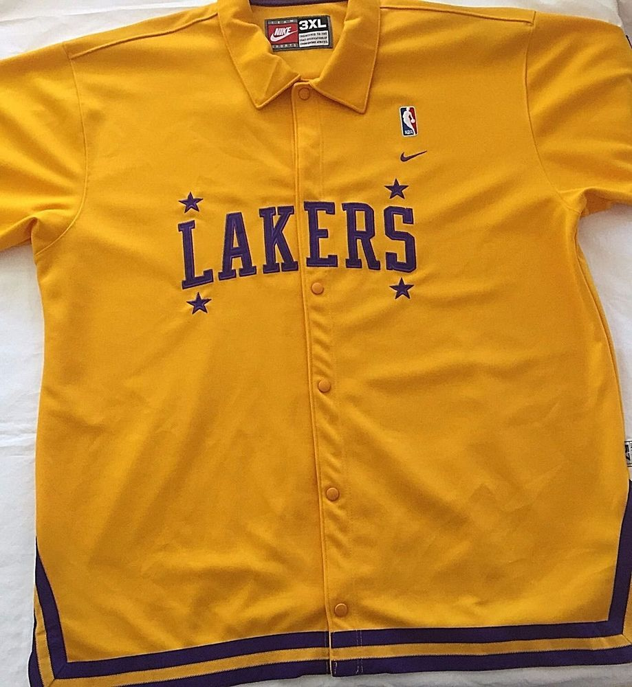 huge discount 86ecc 8cd37 3XL Authentic Lakers Jersey Nike Team Sports Snap Front Warm ...