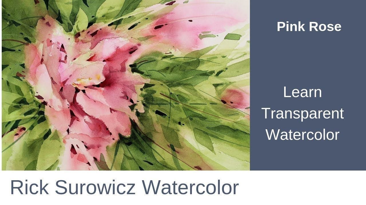 Watercolor Tutorial Narrated Step By Step Tutorial Pink Rose
