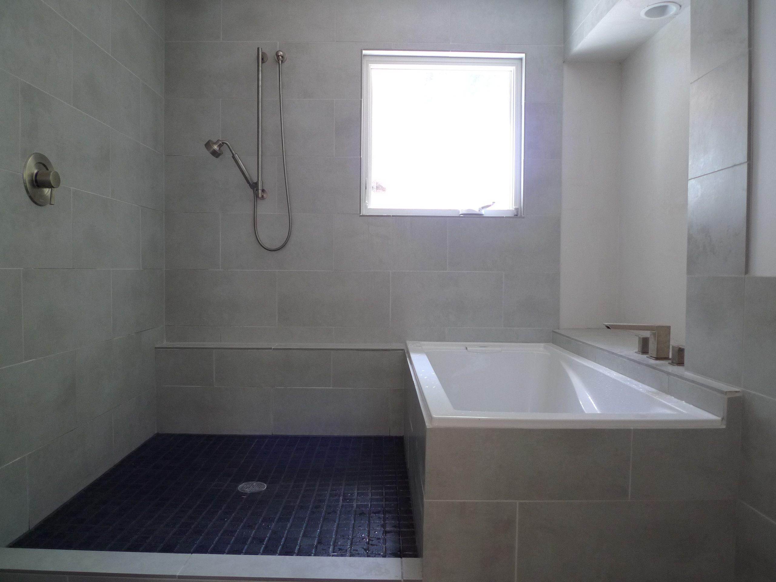 CONCRETE LOOK TILE FOR MODERN BATHROOM ?