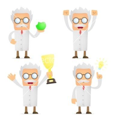 cartoon scientist vector image on pinterest