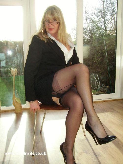 Busty Milf White Stockings