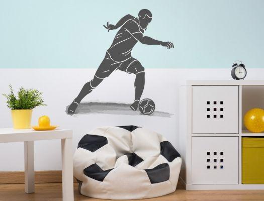 Photo of Jugendzimmer Wandtattoo Fußball Stürmer für Teenager Jungen