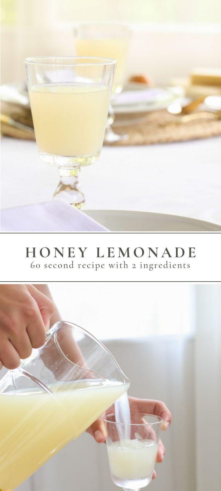 2 Ingredient Naturally Sweetened Honey Lemonade Recipe | Julie Blanner
