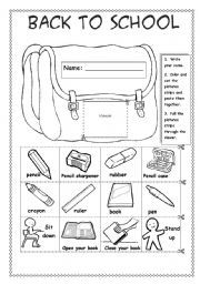 English teaching worksheets: Back to school | Classroom Resources ...