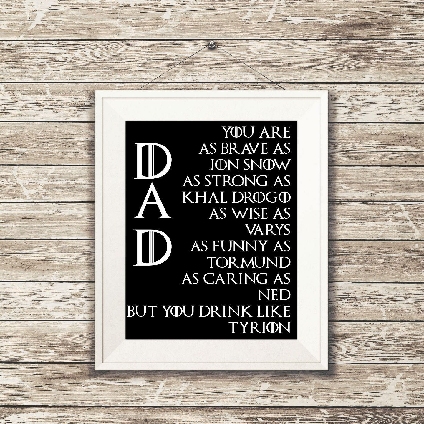The Men of Game of Thrones Geek Wall Art Poster or
