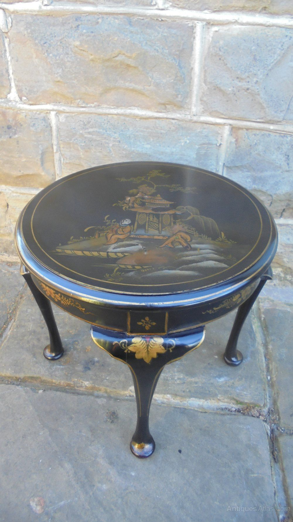 Antique lacquered chinoiserie coffee table antiques