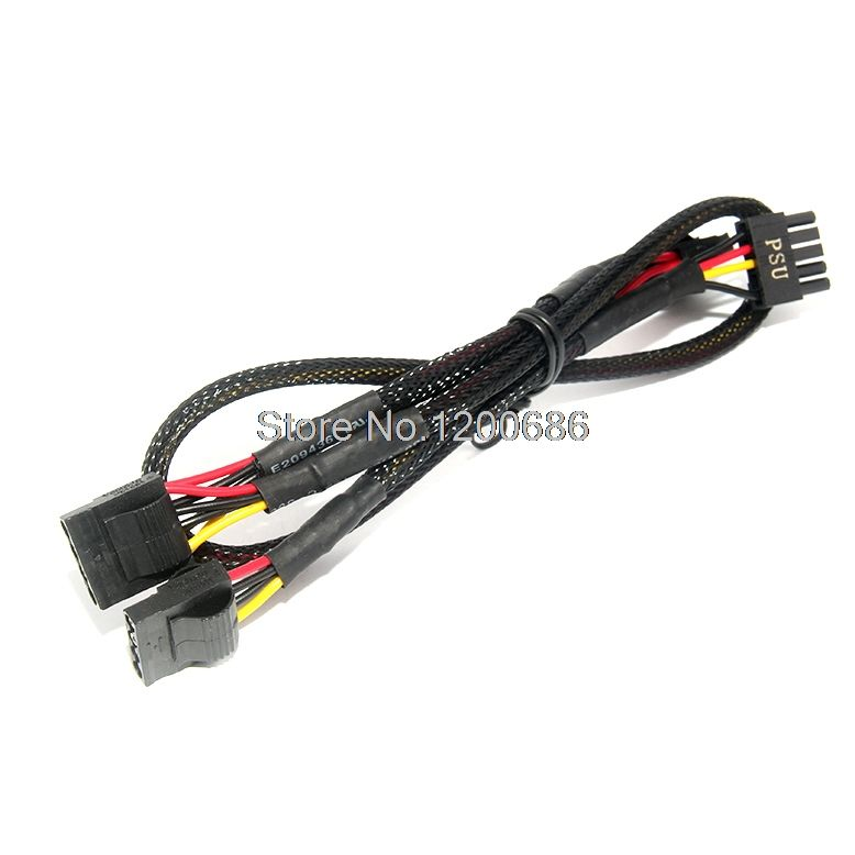 88cm Power Supply Cable Wire Harness Individually Sleeved Peripheral Cable 3 Sata Cables Cable Wire Power Supply Harness