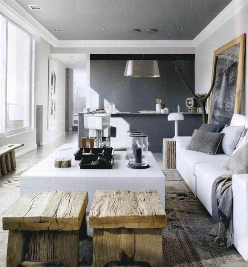 Best Colour Combination For Home Interior: White Grey Color Combinations For Living Rooms : The Best