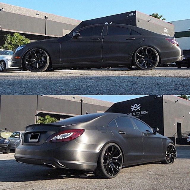 Kik Carswithoutlimits On Instagram Theautofirm Mercedesbenz Cls550 Wrapped In Black Brushed Metallic With Black Mercedes Benz Black Accents Brushed Metal