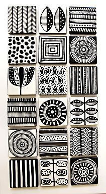 Jocelyn Proust Designs Pattern Design Hand Painted Tiles Arte
