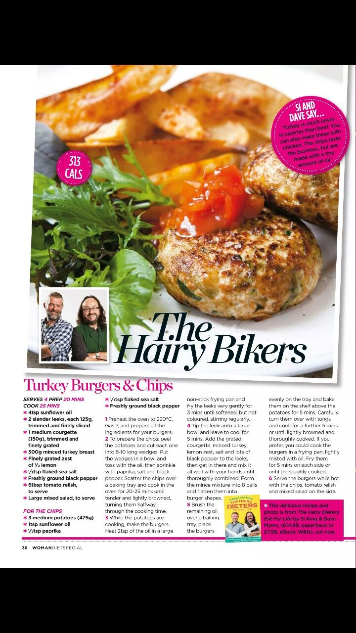 the hairy bikers turkey burgers and chips (With images ...