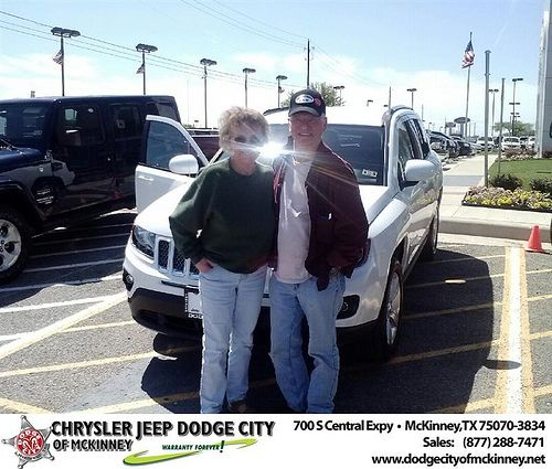 Dodge City Of Mckinney Would Like To Say Congratulations To John Rubertus On The 2014 Jeep Compass Dodge City Jeep Compass Dodge