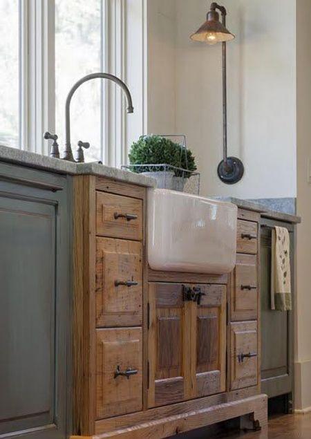 תוצאת תמונה עבור Dresser Into Kitchen Sink Farmhouse