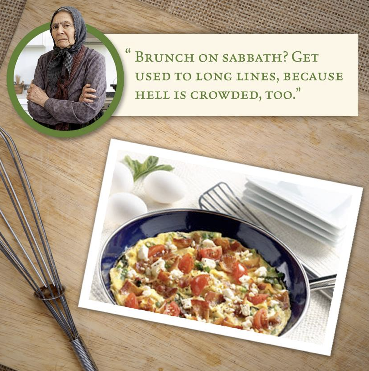 Serve your five closest friends a Skillet Bacon-Feta Frittata at your next brunch party. #ATHENOS