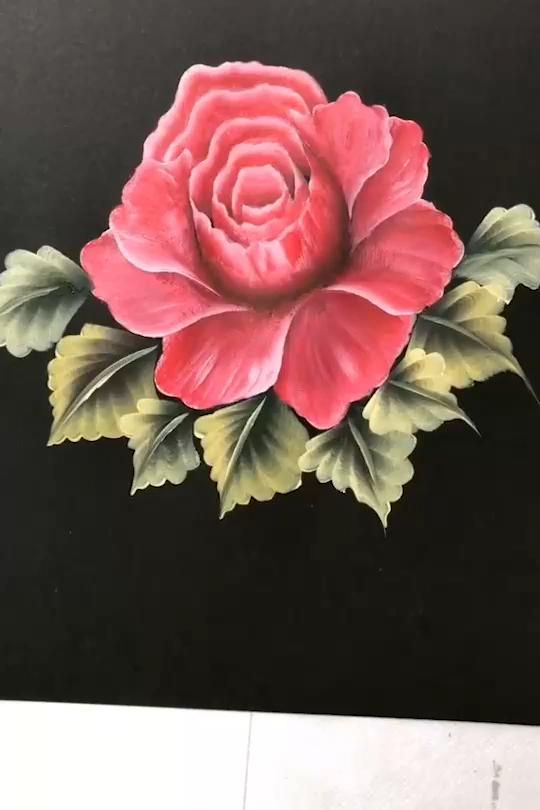 Beautiful Red Flower Painting Tutorial