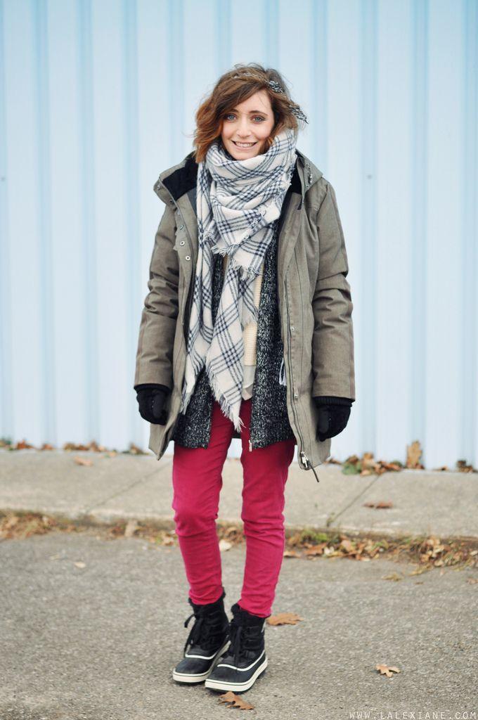 Manteau d'hiver Boots #Sorel, Manteau #Lolë, Echarpe #Zara ...