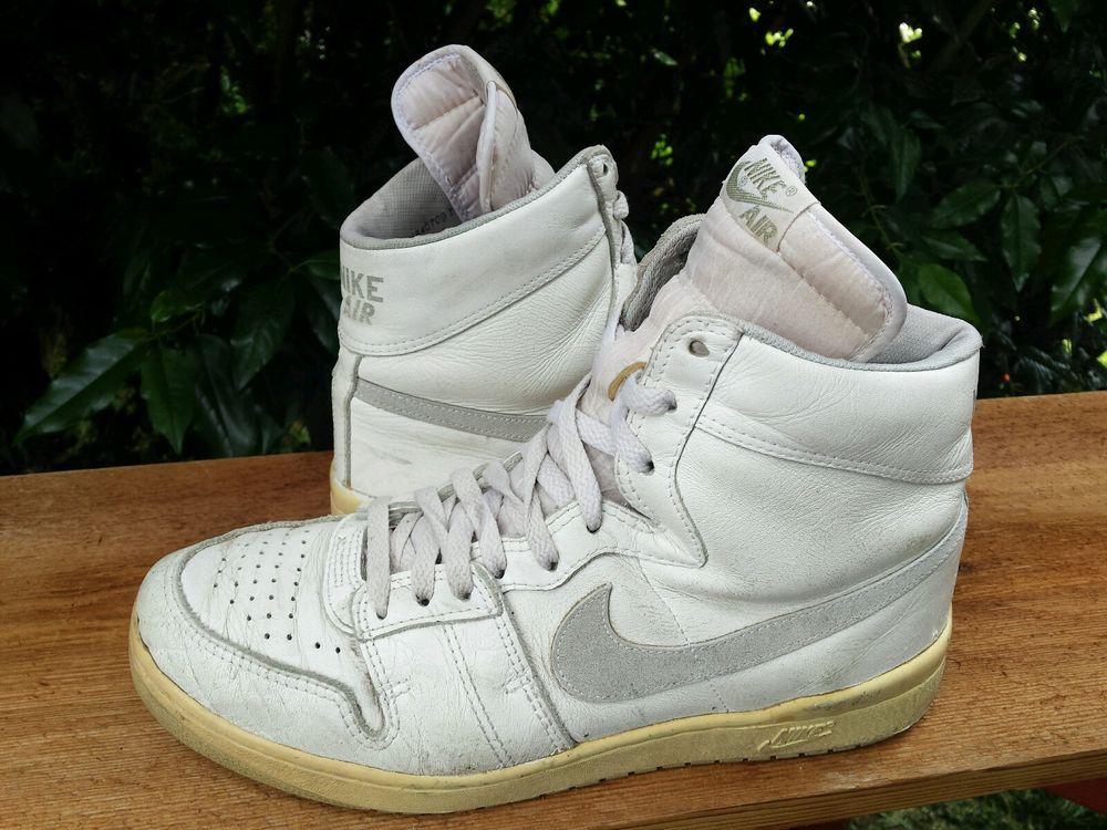 Vtg OG 1984 Nike Air Ship White Gray pre Jordan shoes #Nike  #AthleticSneakers