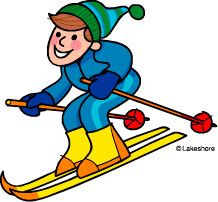free seasons clipart skiing clip art at lakeshore learning rh pinterest com