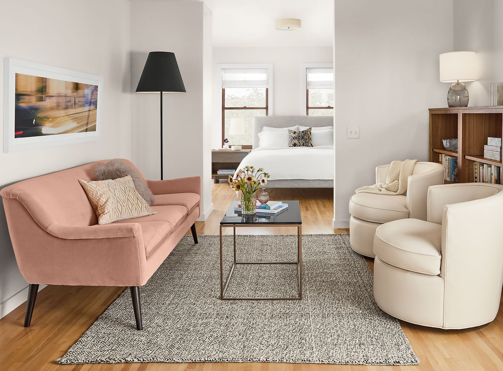 The possibilities are endless when you use white as the base of your color palette for your living room furniture. Small Space Ideas & Solutions - Ideas & Advice - Room ...