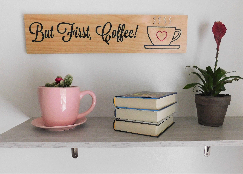 But First Coffee Wood Sign Coffee Bar Wall Decor Coffee Wall Etsy Bar Wall Decor Coffee Wood Signs Coffee Wall Hanging