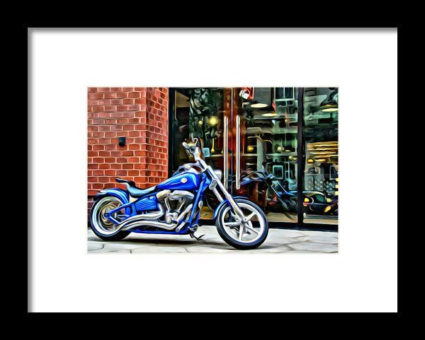 Blue Harley Framed Print By Alice Gipson