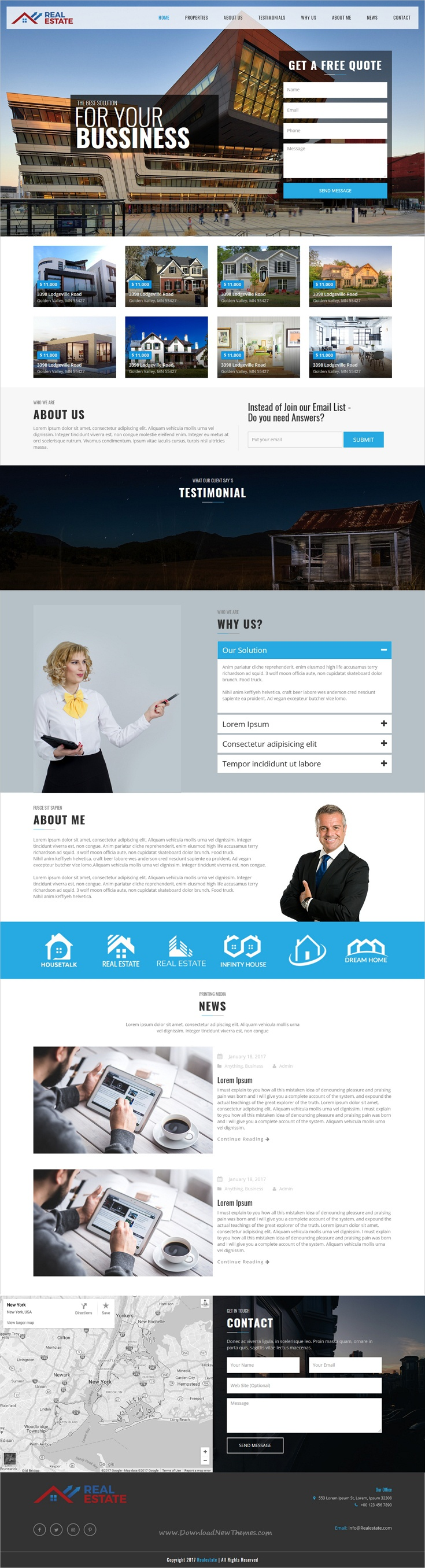 Real Estate Responsive HTML Template Real estate