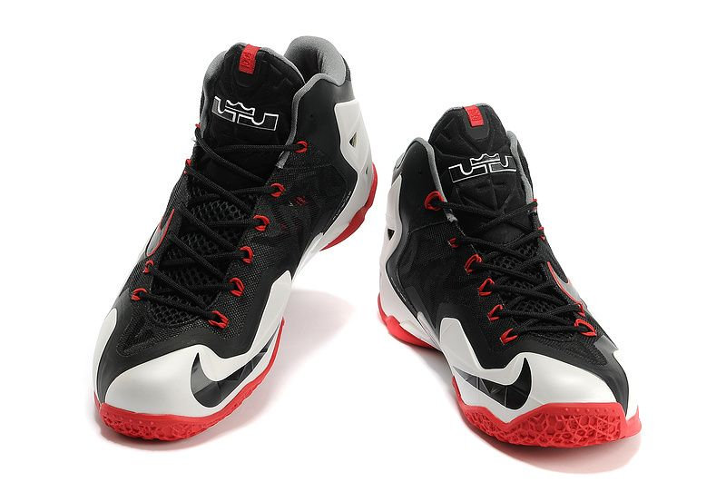 Nike Lebron 11 Basketball Shoes For Men Black White New