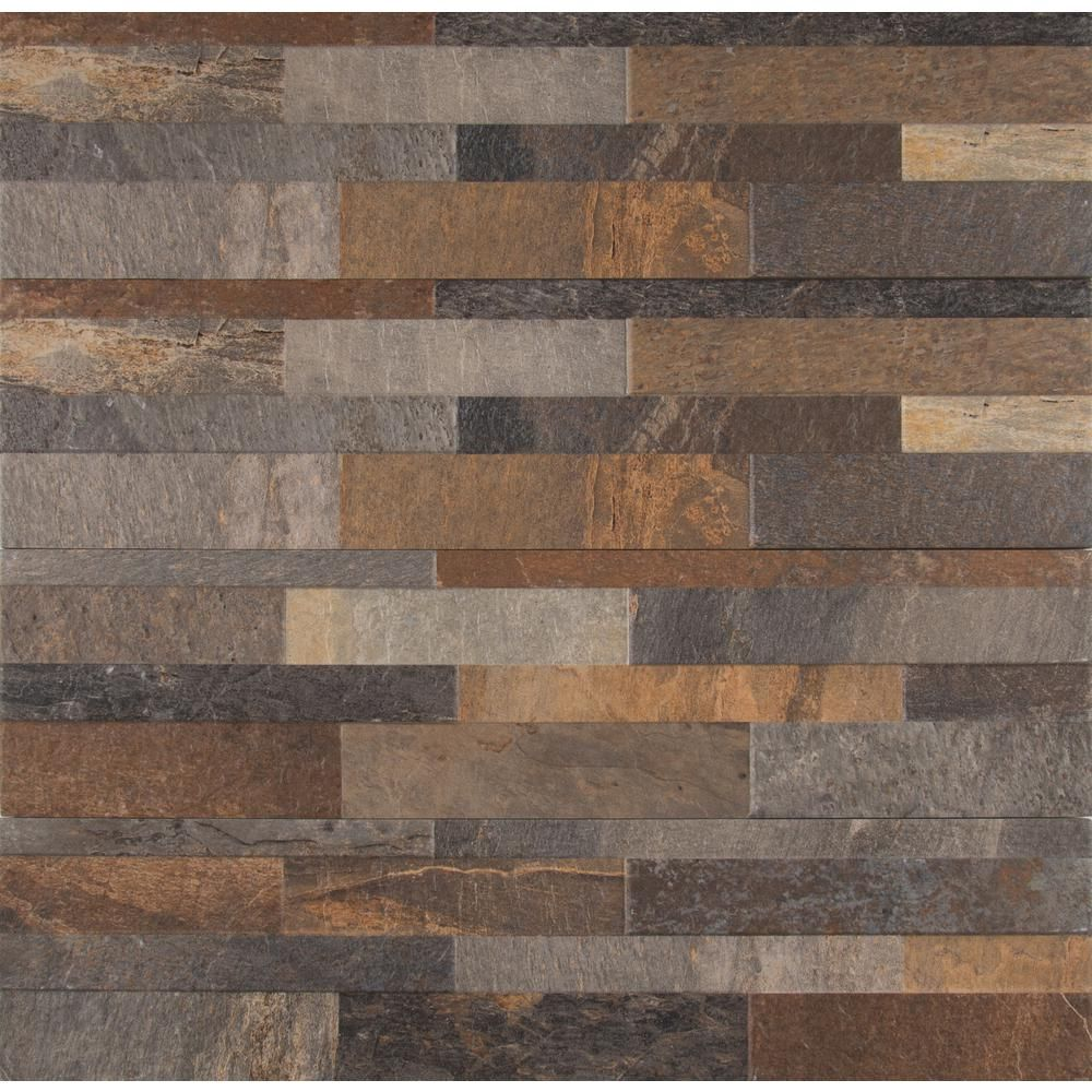 Ms International Mountain Rust Ledger Panel 6 In X 24 In Glazed
