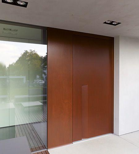 Moderne haust r in holz haust ren entry doors - Verspiegelte fenster haus ...